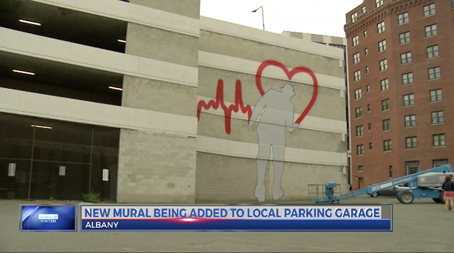 News 10: New Mural Being Added to Local Parking Garage
