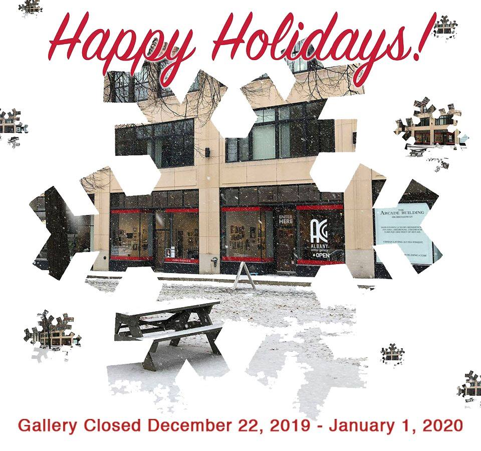 GALLERY CLOSED December 22, 2019 through Wednesday, January 1, 2020
